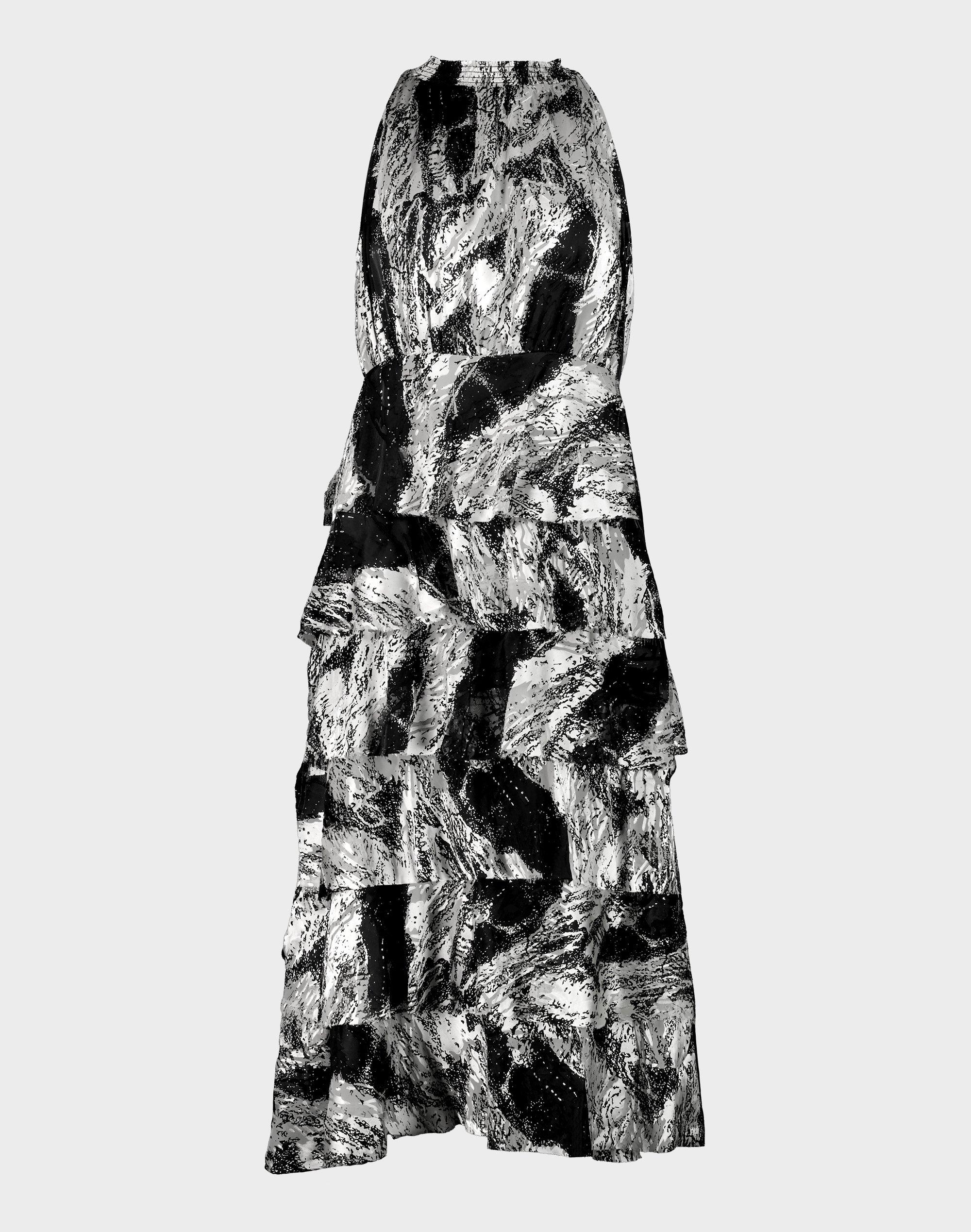 Burnout Ruffle Dress
