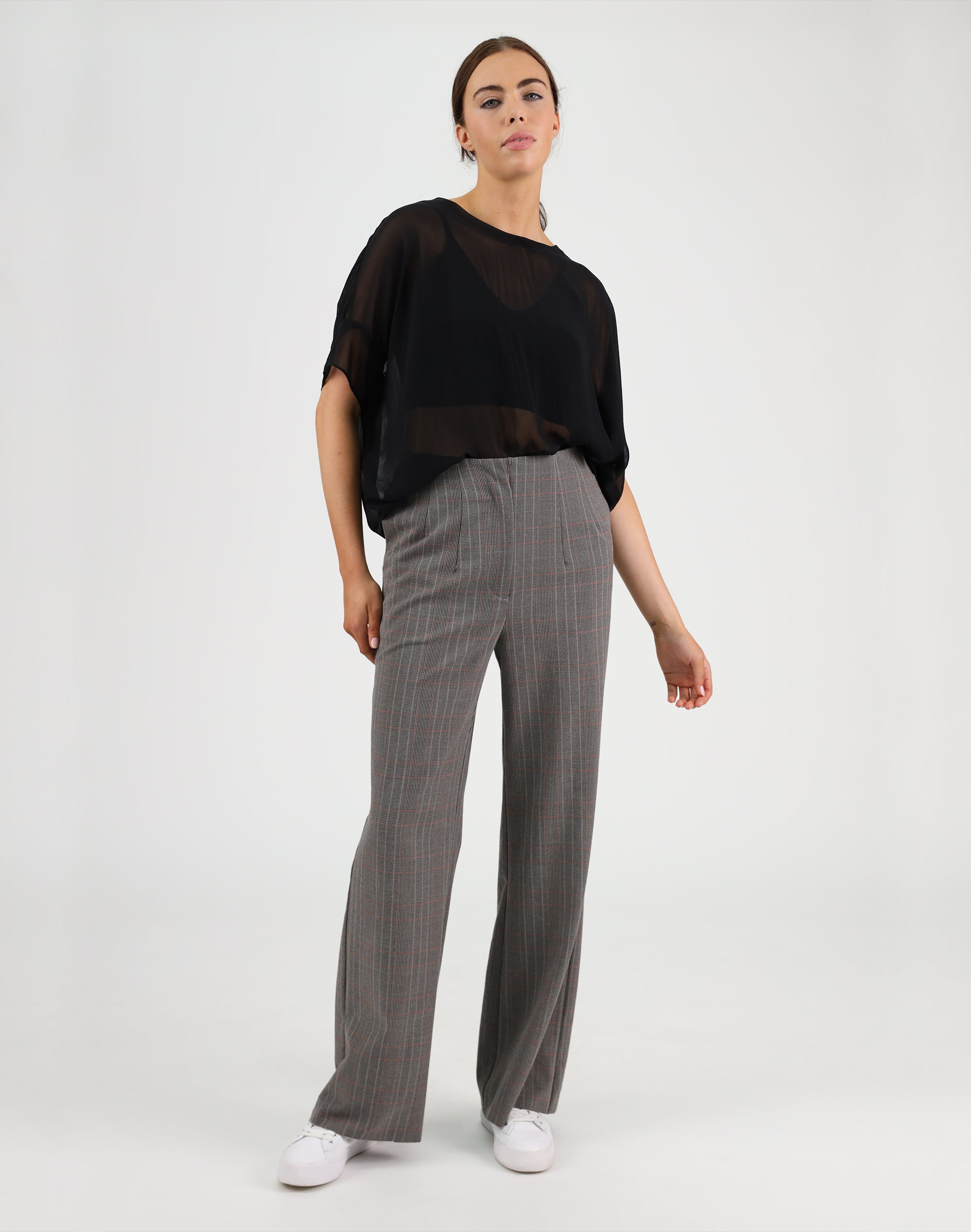 Checked Out Wide Leg Pant