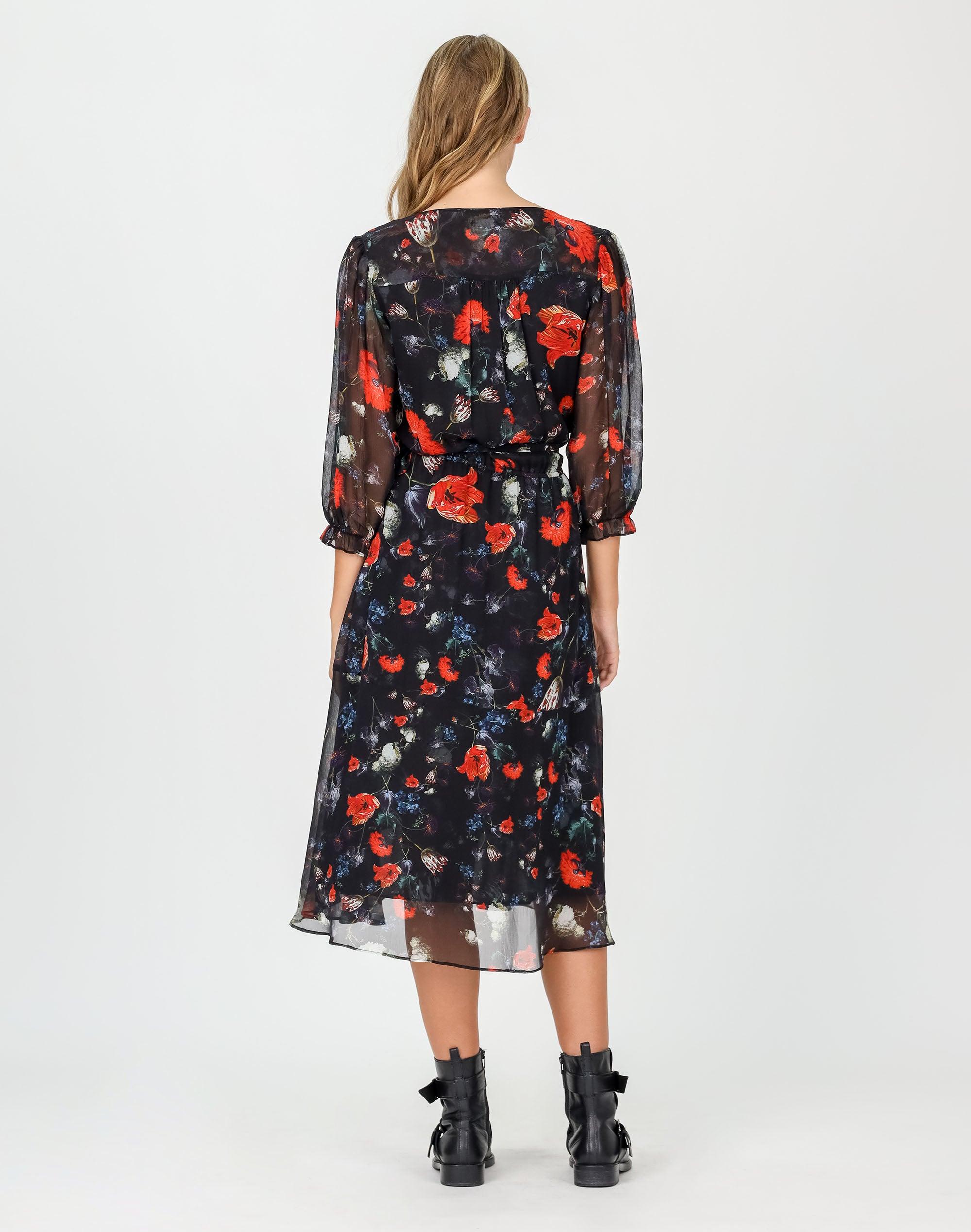 Dark Forest Silk Dress
