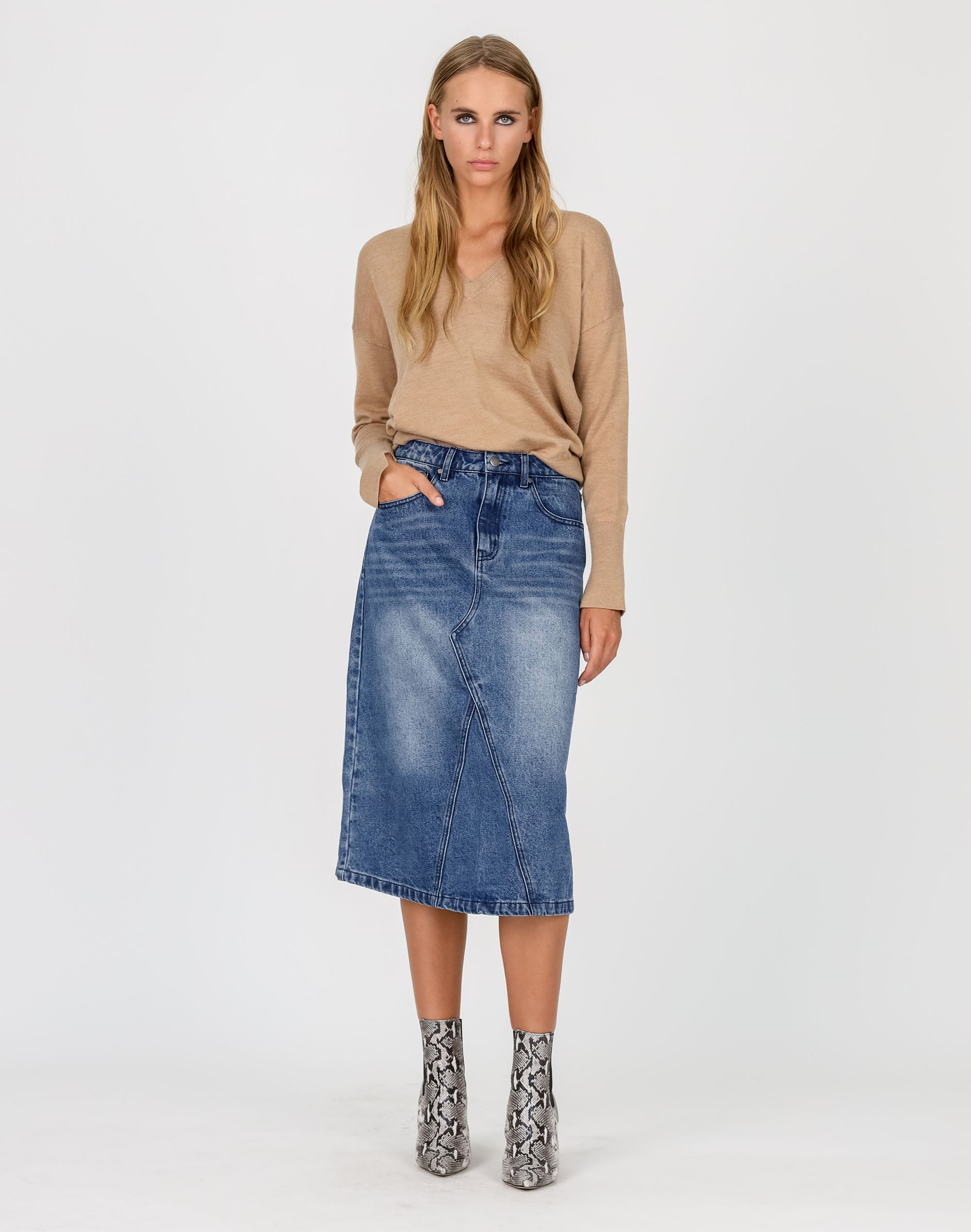 Deep V Merino Sweater