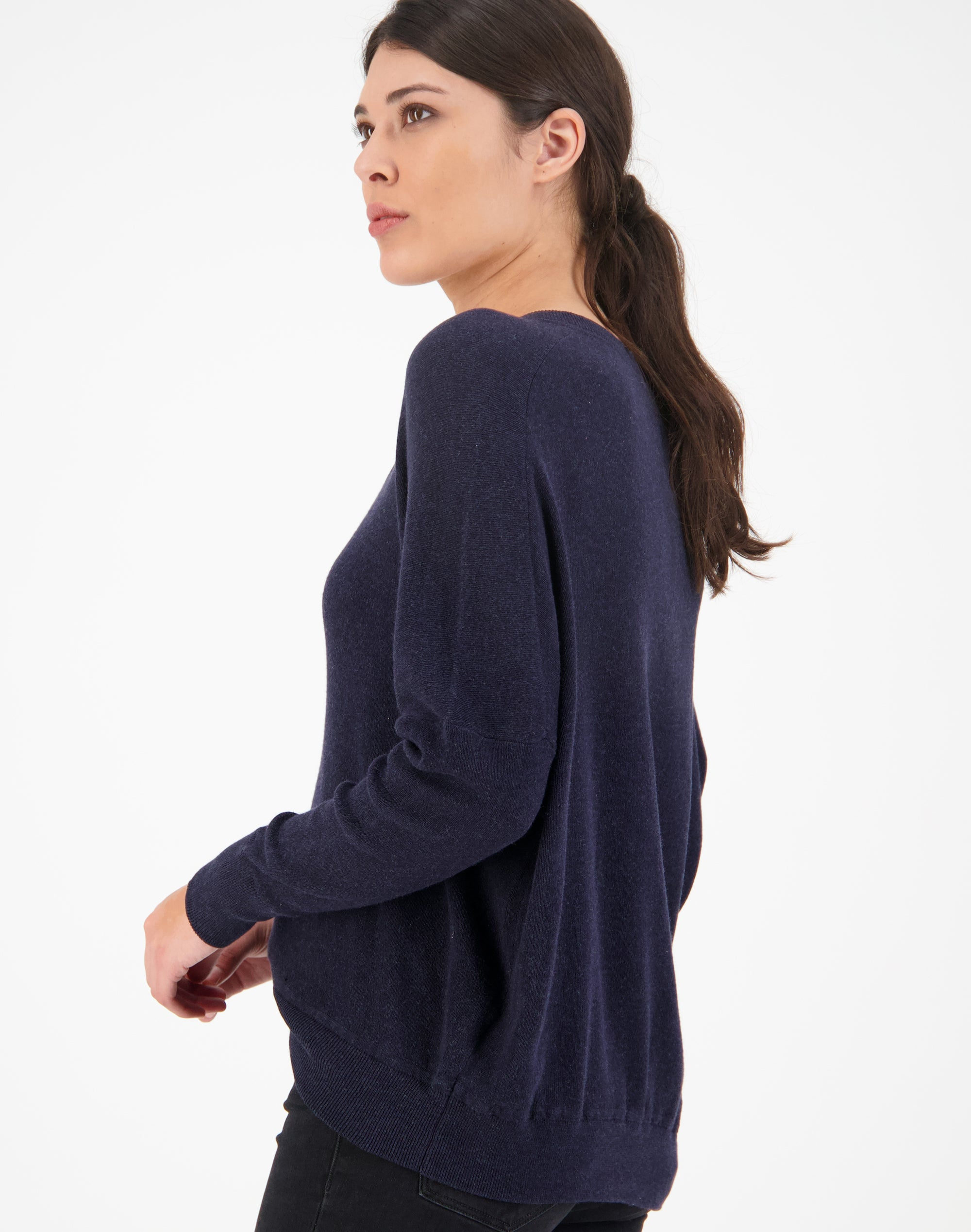 Deep V Relaxed Sweater