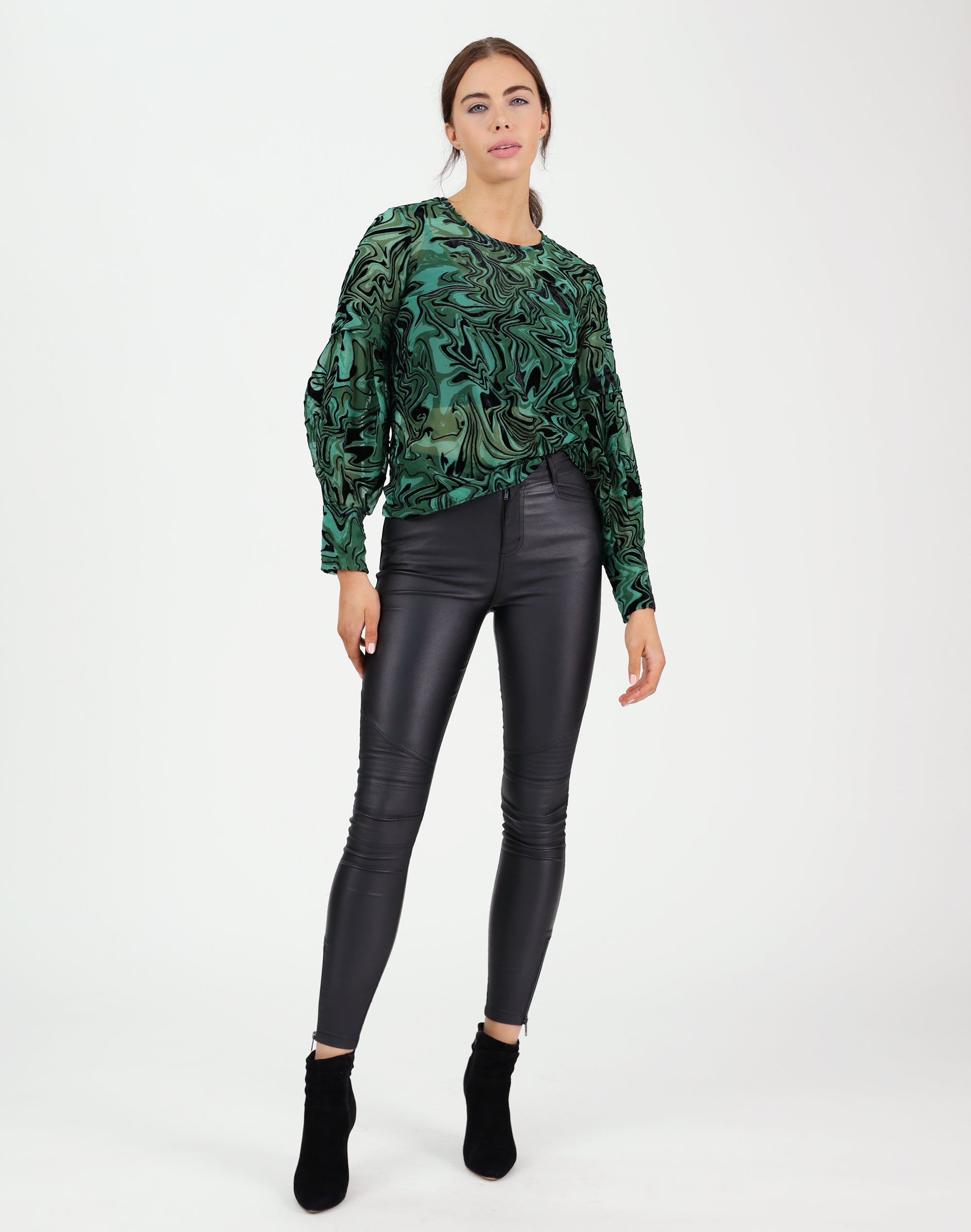 Emerald Burn Out Top