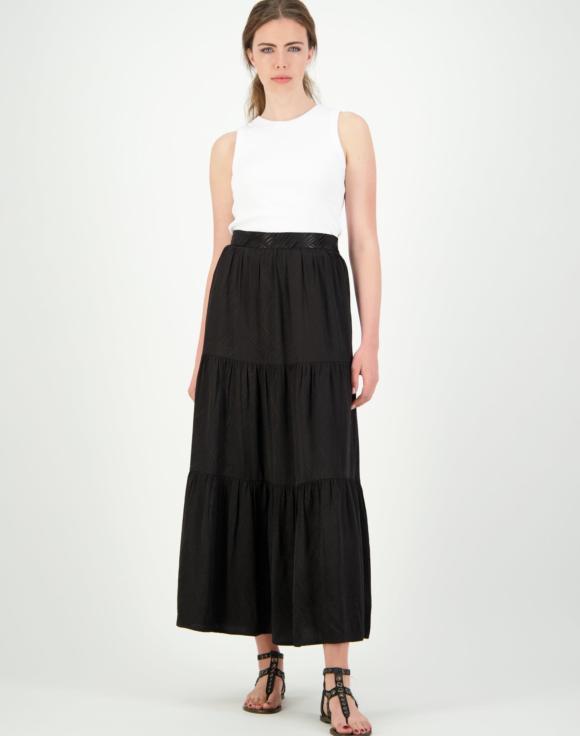 Jacquard Tiered Skirt