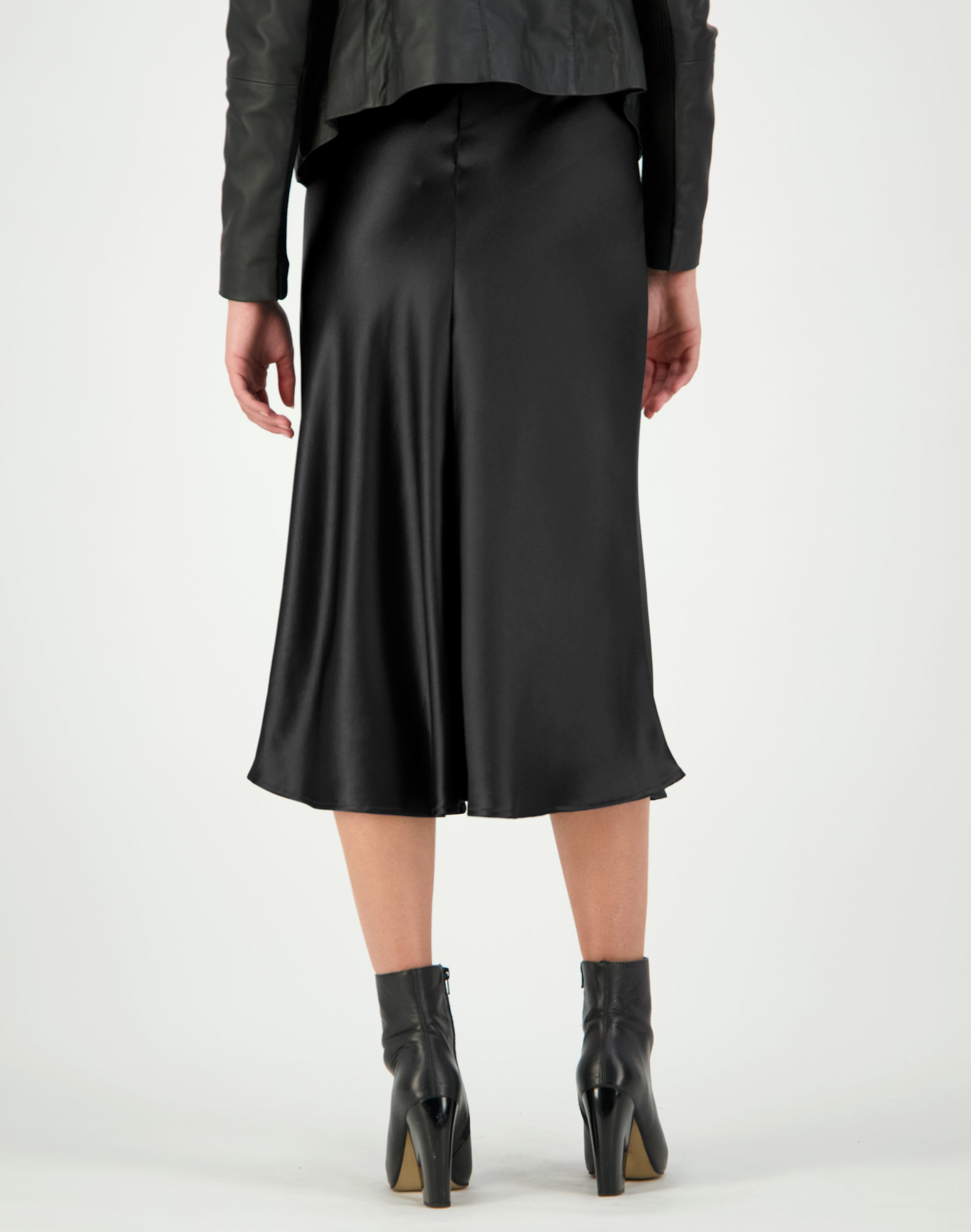 Liquid Satin Split Skirt