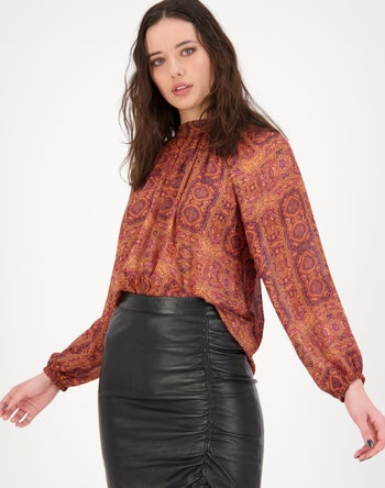 Rust Multi - Storm Women's Clothing