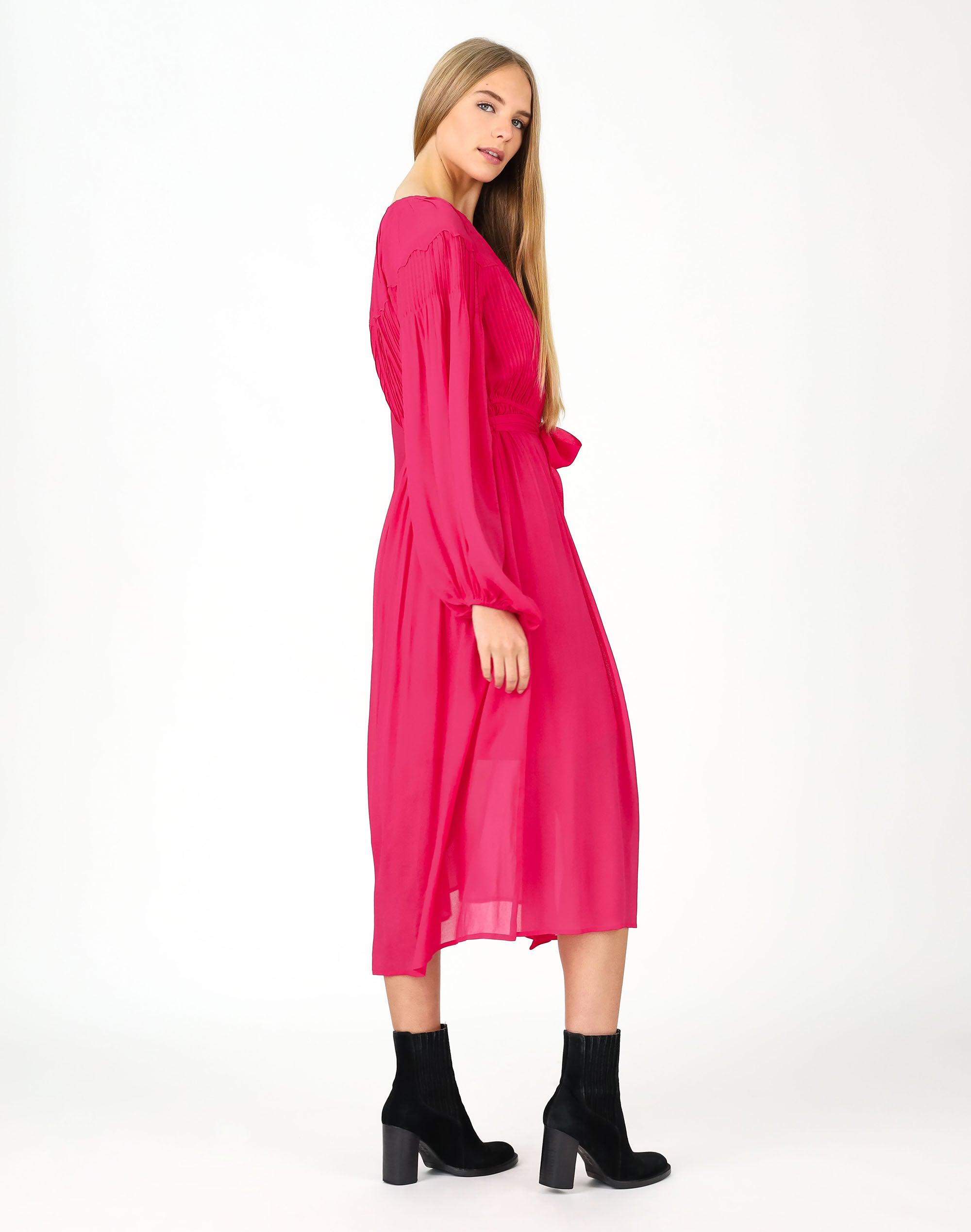 Parisia Pintuck Midi Dress