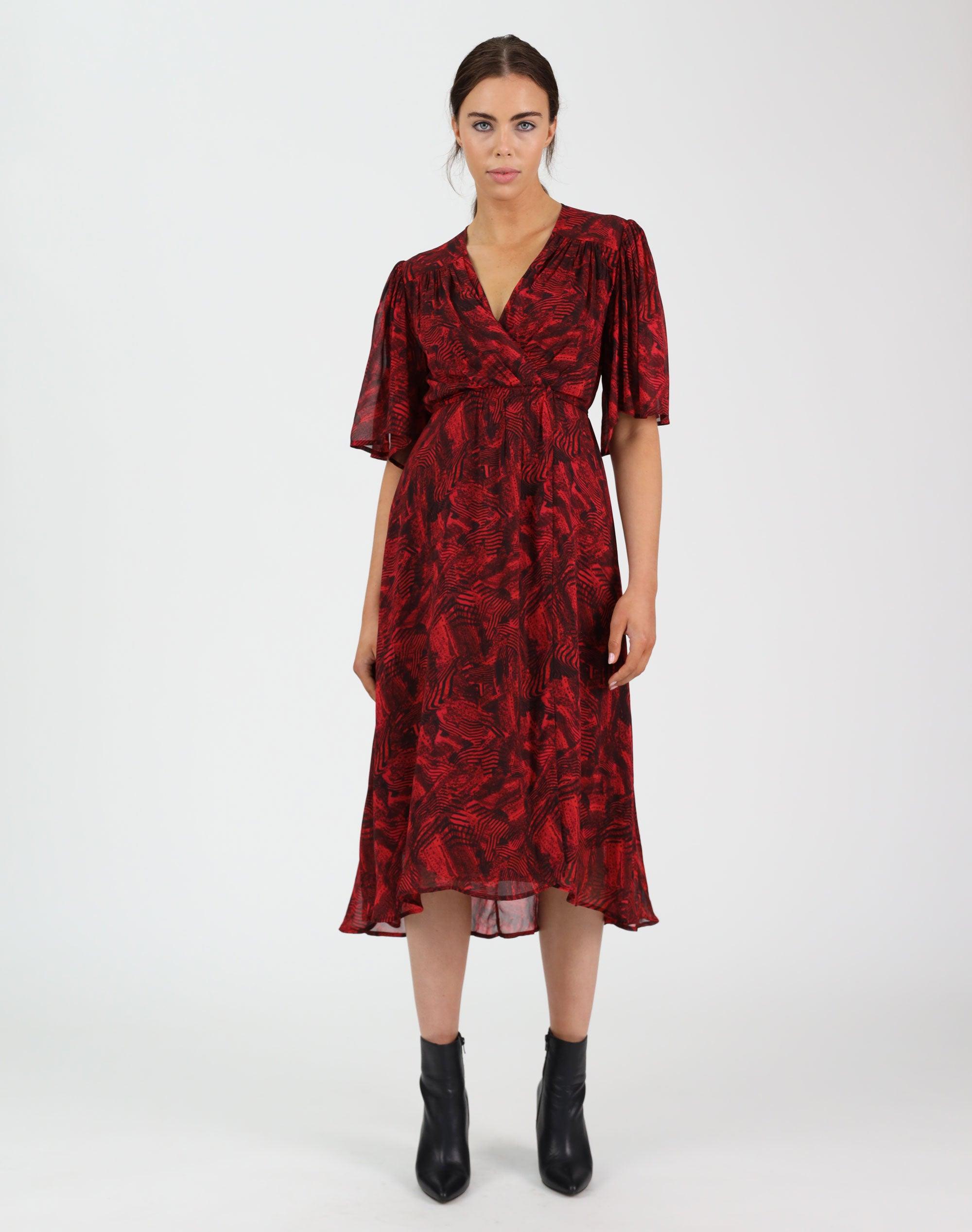 Red Faze Dress