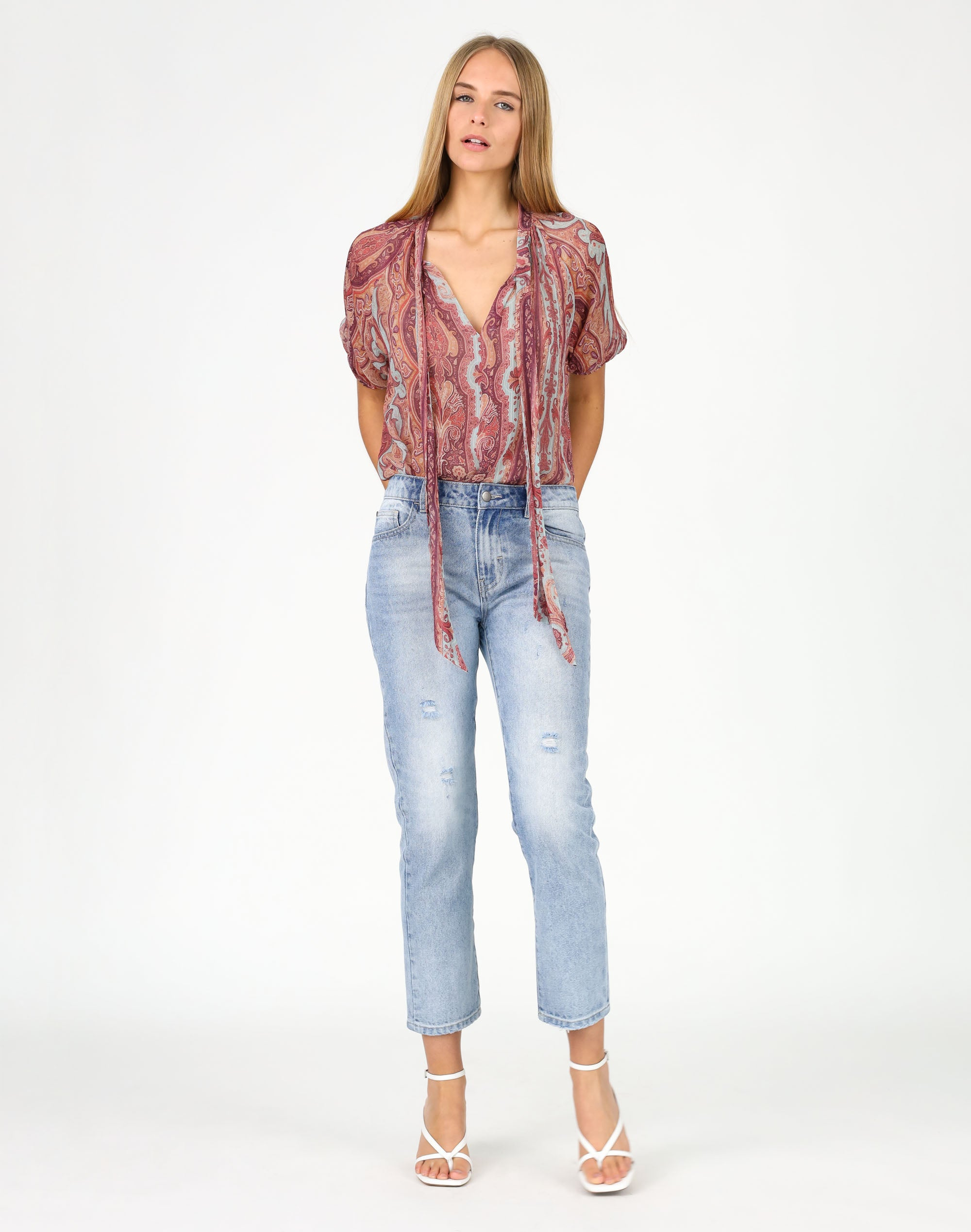 Ruby Paisley Top