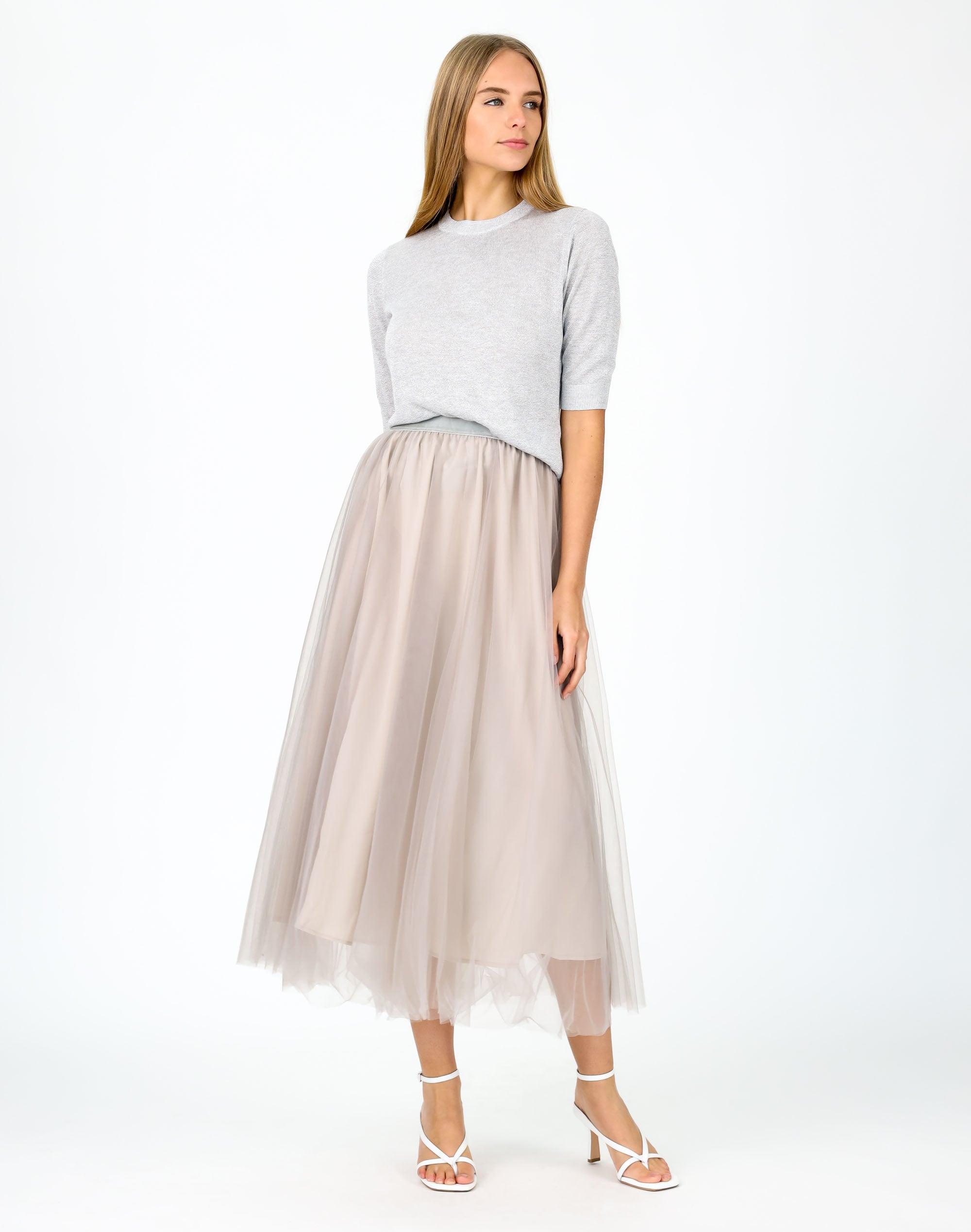 Short Sleeve Lurex Sweater
