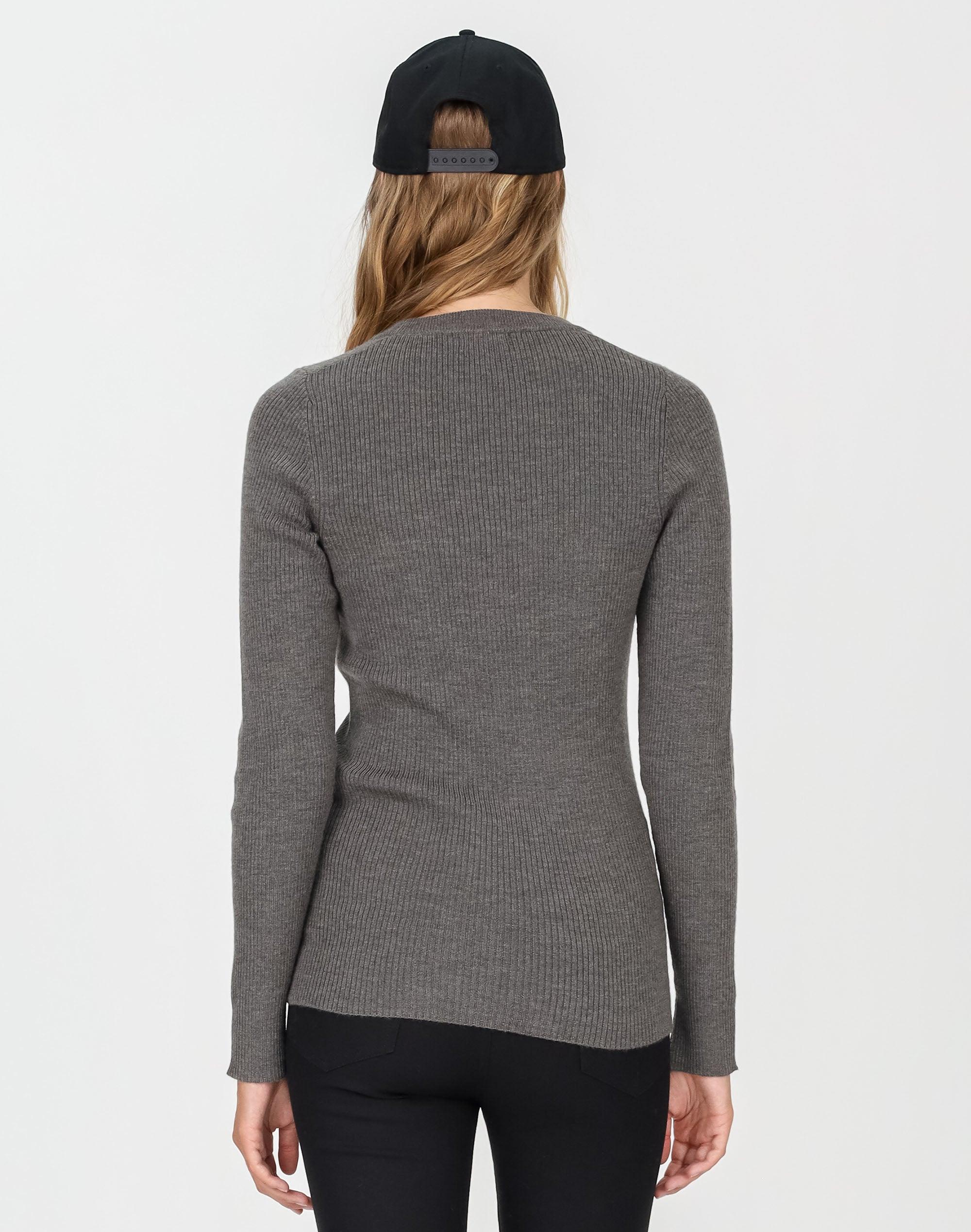 Split Cuff Merino Sweater