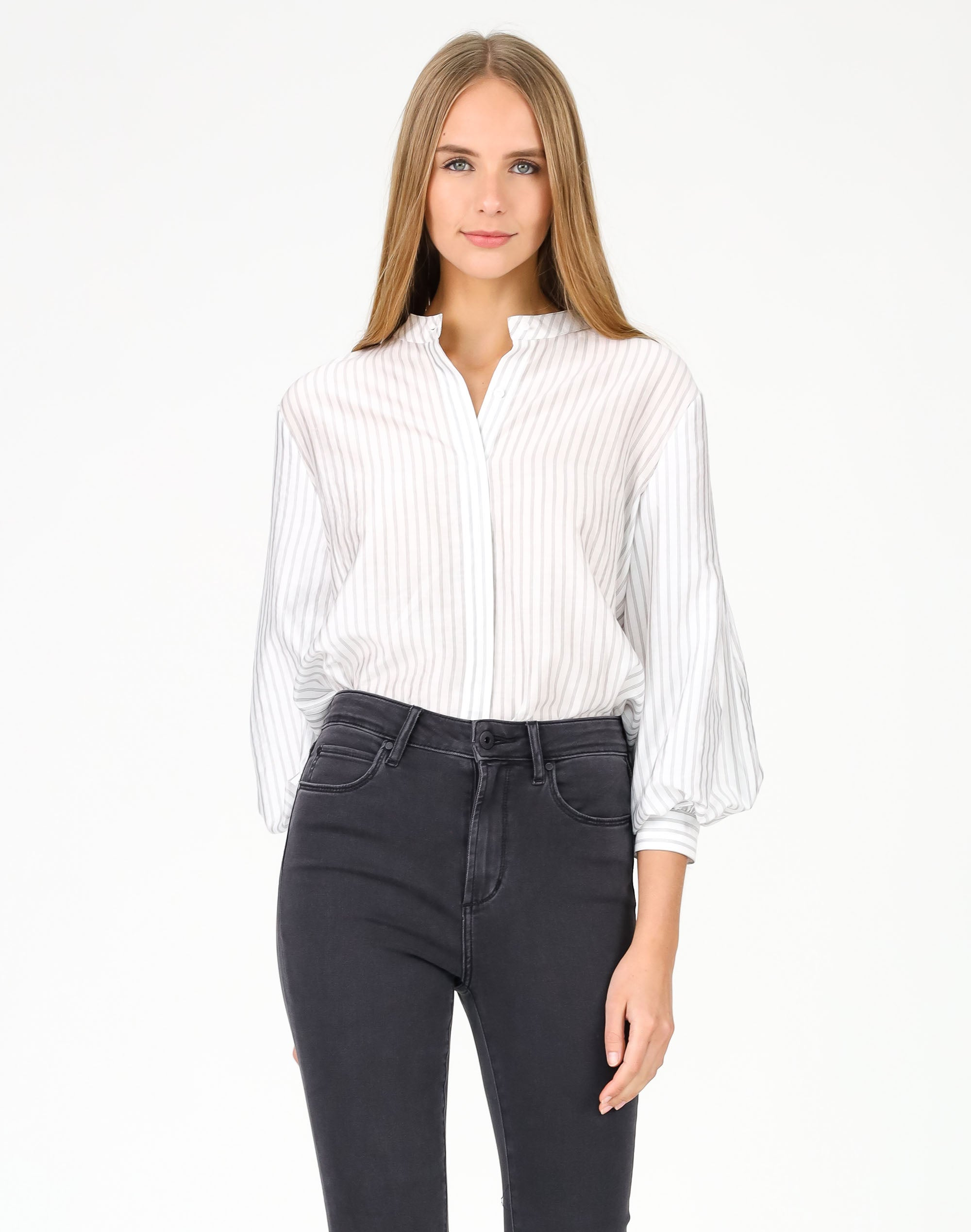 Stripe Sleeve Detail Shirt