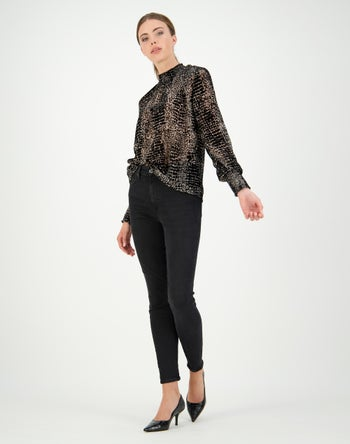 Black / Taupe Animal - Storm Women's Clothing