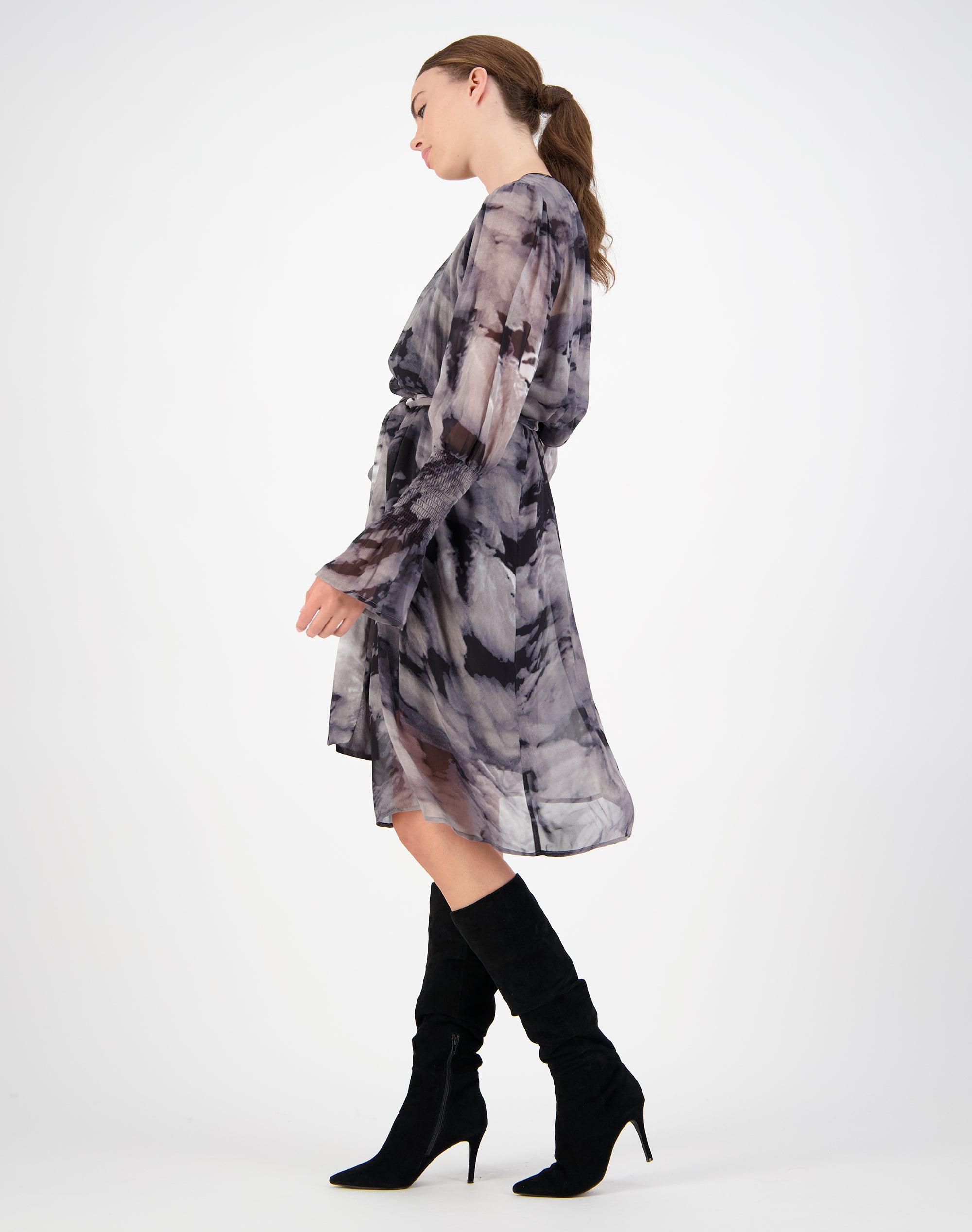 Thunder Shirred Sleeve Dress