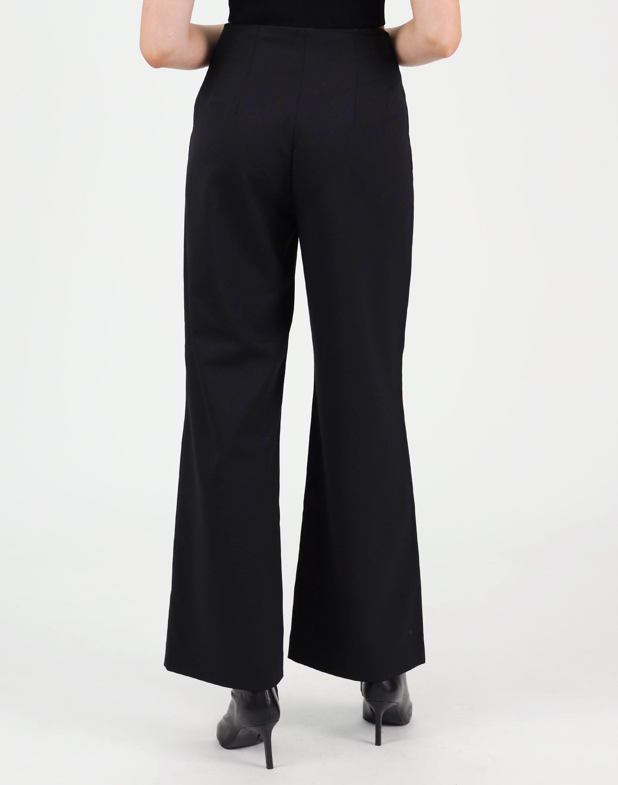 Wool Mix Wide Leg Pant